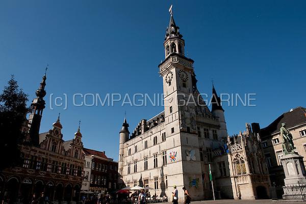 The belfry of Aalst, also known as Schepenhuis (Belgium, 04/08/2009)