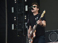SAN FRANCISCO, CALIFORNIA - AUGUST 09: Blink 182 - Mark Hoppus performs during the 2019 Outside Lands music festival at Golden Gate Park on August 09, 2019 in San Francisco, California. Photo: imageSPACE/MediaPunch<br /> CAP/MPI/ISAB<br /> ©ISAB/MPI/Capital Pictures