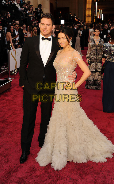 HOLLYWOOD, CA- MARCH 02:  Actors Channing Tatum (L) and Jenna Dewan-Tatum attend the 86th Annual Academy Awards held at Hollywood &amp; Highland Center on March 2, 2014 in Hollywood, California.<br /> CAP/ROT/TM<br /> &copy;Tony Michaels/Roth Stock/Capital Pictures
