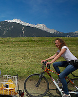 Bicycler, Wildermieming, Austria. Wildermieming-Dorf, Wildermieming-Siedlung and Affenhausen form the municipality of Wildermieming, located in the eastern Mieminger plateau. The name of Affenhausen derives from Saint Afra, who is the patron saint of carters. In the 19th century Wildermieming has been separated from Mieming.