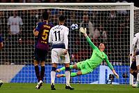 Erik Lamela of Tottenham Hotspur scores the second goal during Tottenham Hotspur vs FC Barcelona, UEFA Champions League Football at Wembley Stadium on 3rd October 2018