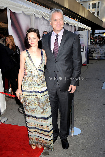 WWW.ACEPIXS.COM . . . . .....September 10, 2008. Toronto, Canada....Actors Rachel McAdams and Tim Robbins attend the 2008 Toronto International Film Festival's 'The Luck One' Premiere held at Roy Thomson Hall on September 10, 2008 in Toronto, Canada...  ....Please byline: Kristin Callahan - ACEPIXS.COM..... *** ***..Ace Pictures, Inc:  ..Philip Vaughan (646) 769 0430..e-mail: info@acepixs.com..web: http://www.acepixs.com