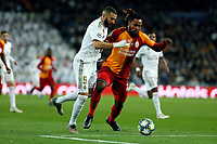 Real Madrid CF's Karim Benzema and Galatasaray's Christian Luyindama competes for the ball during UEFA Champions League match, groups between Real Madrid and Galatasaray SK at Santiago Bernabeu Stadium in Madrid, Spain. November, Wednesday 06, 2019.(ALTERPHOTOS/Manu R.B.)<br /> Champions League 2019/2020  <br /> Real Madrid - Galatasaray<br /> Foto Alterphotos / Insidefoto <br /> ITALY ONLY