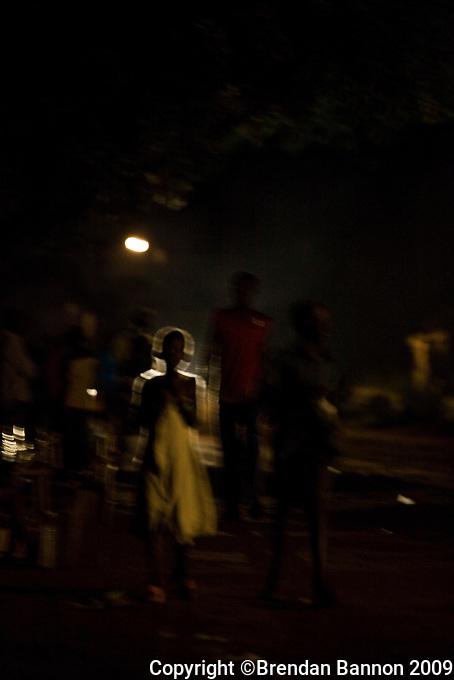 Night scene in Yei, South Sudan.