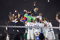 Real Madrid coach Zinedine Zidane during the celebration of the 12th UEFA Championship won by Real Madrid  at Santiago Bernabeu Stadium in Madrid, June 04, 2017. Spain.<br /> Foto ALTERPHOTOS/BorjaB.Hojas/Insidefoto