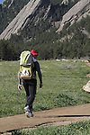 Father and baby hiking at Chautauqua Park in Boulder, Colorado. .  John leads private photo tours in Boulder and throughout Colorado. Year-round.