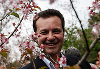SAO PAULO, SP, 05 AGOSTO 2012 - FESTA DAS CEREJEIRAS - O prefeito Gilberto Kassab durante a 34ª edição da Festa das Cerejeiras no Parque do Carmo regiao leste da capital paulista . FOTO: VANESSA CARVALHO / BRAZIL PHOTO PRESS)
