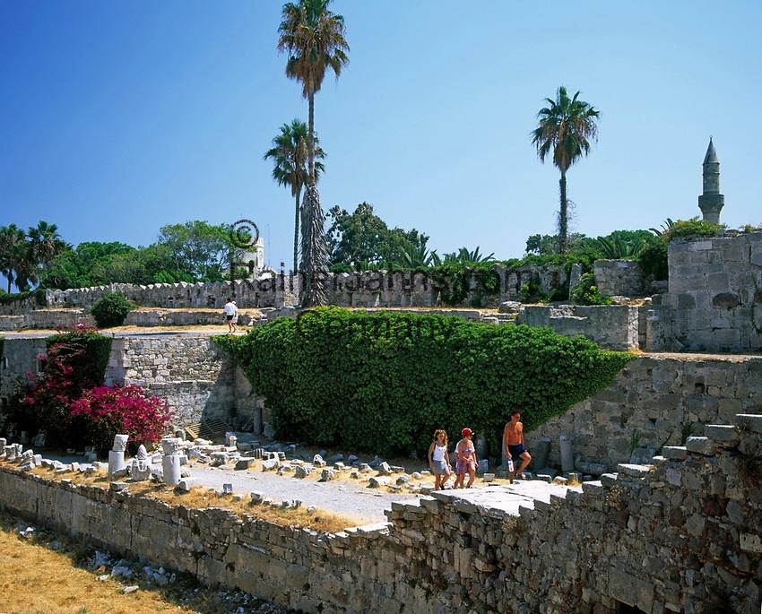 Griechenland, Dodekanes, Kos, Kos-Stadt: Burg Neratzia (Johanniterorden) | Greece, Dodekanes, Kos, Kos-City: Castle of the knights of St. John