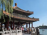 F&uuml;nfdrachenpavillons und Dagoba  im BeiHai Park, Peking, China, Asien<br /> Fivedragon-Pavilion and Dagoba in Beihai Park, Beijing, China, Asia