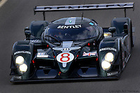 The  #8 Bentley Speed 8 004/3, driven by Johnny Herbert, David Brabham and Mark Blundell at Sebring in 2003, finished in 3rd place.