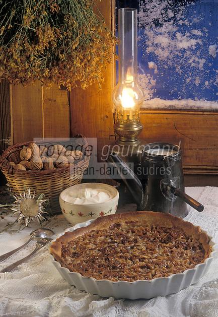 """Europe/France/Rhône-Alpes/38/Isère/Vercors/Villard-de-Lans: Tarte aux noix à la chartreuse verte à """"l'Auberge de Malaterre"""""""