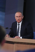MOSCOW, RUSSIA - December 17, 2015: Russian president Vladimir Putin holds his annual press conference at the World Trade Centre, Moscow, with Russian and international journalists.<br /> Picture: Kristina Afanasyeva / Featureflash