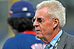 29 March 2008: Baseball Hall of Fame journalist Peter Gammons watches batting practice prior to an exhibition game between the Baltimore Orioles and the Washington Nationals at Nationals Park, in Washington, DC. The matchup was the first professional game played in the new ballpark, prior to the upcoming official opening day inaugural game. .Mandatory Photo Credit: Ed Wolfstein Photo