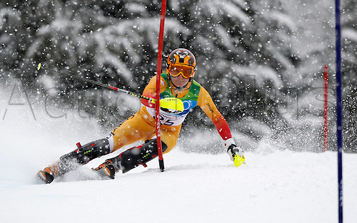 26 02 2010 Copyright Actionplus/GEPA Pictures . 2010 Vancouver Winter Olympic Games. Whistler Canada 26 Feb 10  Ski Alpine Slalom for women Picture shows Brigitte Acton CAN .  Photo : Imago/Actionplus. Editorial Use UK.