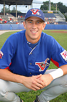 August 15, 2003:  Danny Kahr of the Vermont Expos during a game at Dwyer Stadium in Batavia, New York.  Photo by:  Mike Janes/Four Seam Images