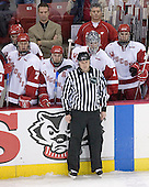 Brian Elliott 1 is pulled to allow Wisconsin to skate an extra attacker - Joe Piskula 7, Davis Drewiske 4, Mark Osiecki, Jeff Likens 5, Steve Castelletti, Kyle Klubertanz 20. The Boston College Eagles defeated the University of Wisconsin Badgers 3-0 on Friday, October 27, 2006, at the Kohl Center in Madison, Wisconsin in their first meeting since the 2006 Frozen Four Final which Wisconsin won 2-1 to take the national championship.<br />