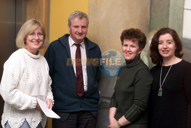 Carmel Schmidt, Mornington, Eamon Cooke, Kells, Sheila Gormley, Dunshaughlin and Gerardette Bailey, Meath County Arts Officer at the art exhibition in Duleek..Picture: Paul Mohan/Newsfile