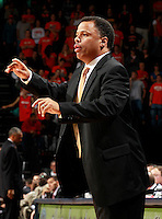 CHARLOTTESVILLE, VA- DECEMBER 6: Asscoiate head coach Ritchie McKay of the Virginia Cavaliers reacts to a call during the game on December 6, 2011 against the George Mason Patriots at the John Paul Jones Arena in Charlottesville, Virginia. Virginia defeated George Mason 68-48. (Photo by Andrew Shurtleff/Getty Images) *** Local Caption *** Ritchie McKay