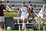 09 September 2011: Texas A&M's Merritt Mathias. The Duke University Blue Devils defeated the Texas A&M Aggies 7-2 at Koskinen Stadium in Durham, North Carolina in an NCAA Division I Women's Soccer game.