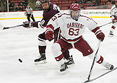 Tyson Spink (Colgate - 8),Colin Blackwell (Harvard - 63) - The Harvard University Crimson defeated the visiting Colgate University Raiders 7-4 (EN) on Saturday, February 20, 2016, at Bright-Landry Hockey Center in Boston, Massachusetts,