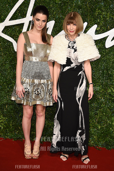 Anna Wintour and Bee Shaffer arrives for British Fashion Awards 2014 at the London Coliseum, Covent Garden, London. 01/12/2014 Picture by: Steve Vas / Featureflash