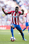 Thomas Teye Partey of Atletico de Madrid in action during their La Liga match between Real Madrid and Atletico de Madrid at the Santiago Bernabeu Stadium on 08 April 2017 in Madrid, Spain. Photo by Diego Gonzalez Souto / Power Sport Images