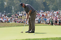Boo Weekly making his putt the 7th green during the saturday afternoon fourball at The 37th Ryder cup from Valhalla Golf Club in Louisville, Kentucky....Photo: Fran Caffrey/www.golffile.ie.