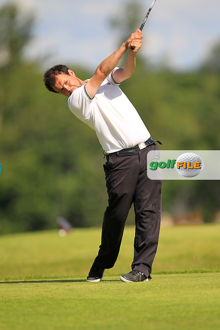 James Quinlivan (Mullingar) on the 6th tee during the Johnston Mooney &amp; O'Brien PGA Challenge Round 1 at Carton House Golf Club  7th August 2013 <br /> Picture:  Thos Caffrey / www.golffile.ie