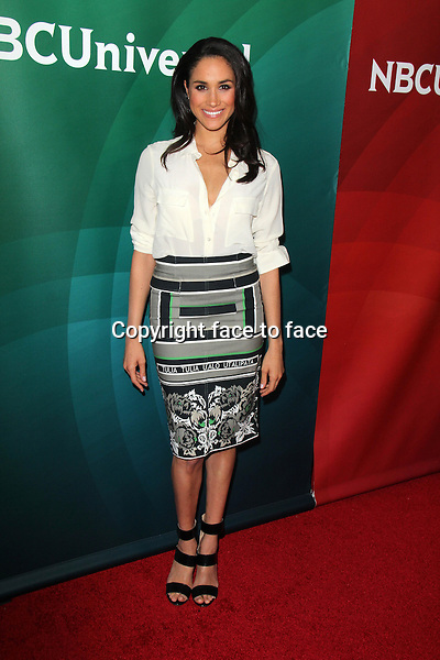PASADENA, CA - January 19: Meghan Markle at the NBC-Universal 2014 TCA Winter Press Tour, Langham Huntington Hotel and Spa, Pasadena, January 19, 2014.<br /> Credit: MediaPunch/face to face<br /> - Germany, Austria, Switzerland, Eastern Europe, Australia, UK, USA, Taiwan, Singapore, China, Malaysia, Thailand, Sweden, Estonia, Latvia and Lithuania rights only -