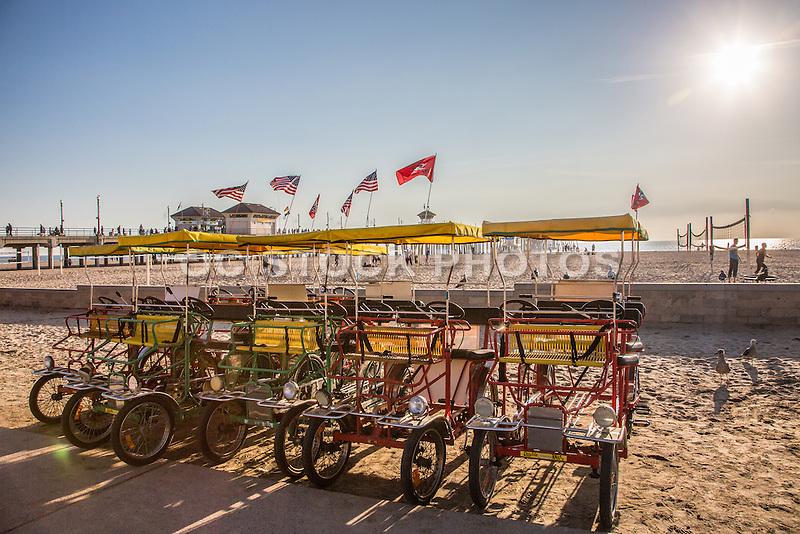Zacks Bike Rentals in Huntington Beach at the Pier