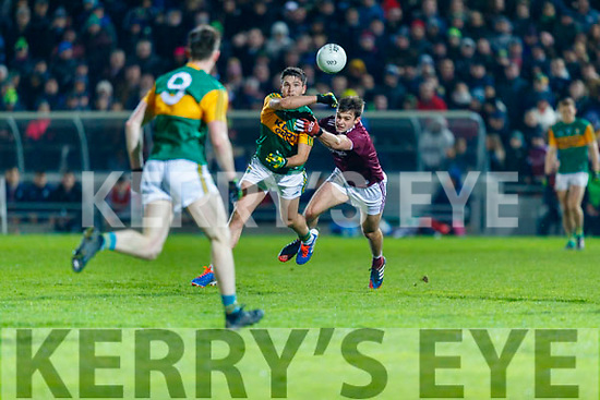 Liam Kearney, Kerry in action against Cillian McDaid, Galway during the Allianz Football League Division 1 Round 2 match between Kerry and Galway at Austin Stack Park in Tralee, Kerry.