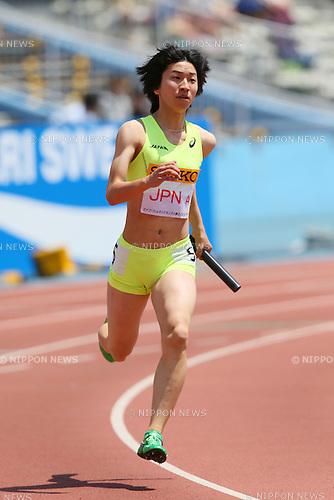 Seika Aoyama (JPN), MAY 10, 2015 - Athletics : IAAF World Challenge Seiko Golden Grand Prix in Kawasaki, Women's 4400mR at Todoroki Stadium, Kanagawa, Japan. (Photo by YUTAKA/AFLO SPORT)