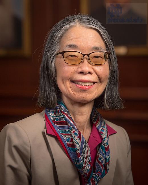 April 12, 2017; Lynn Joy, Emerita faculty portrait (Photo by Matt Cashore/University of Notre Dame)