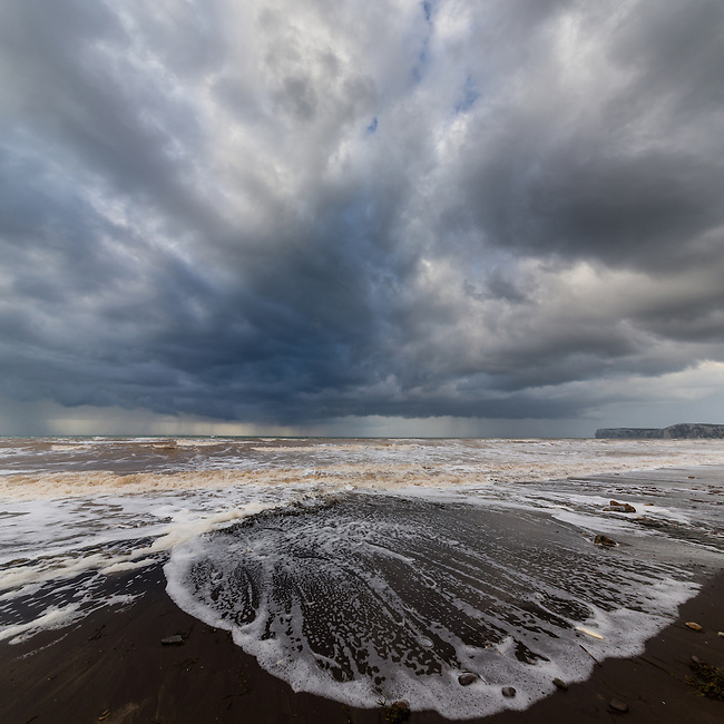 Stormy autumnal day at Compton bay on the Isle of Wight