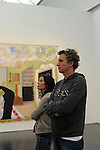 Denis Brogniart, host of French Survivor television show, and his wife Hortense Brogniart visit the Museum of Contemporary Art a day ahead of the Chicago Marathon in Chicago, Illinois on October 10, 2009.