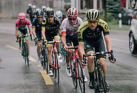 Christopher Juul-Jensen (DEN/Mitchelton-Scott) leading the breakaway group<br /> <br /> Stage 4: Gansingen &gt; Gstaad (189km)<br /> 82nd Tour de Suisse 2018 (2.UWT)