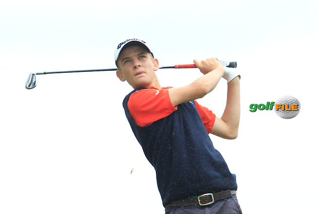 Yvan Ducler (France) on the 7th tee during Round 2 of the Irish Boys Amateur Open Championship at Tuam Golf Club on Wednesday 24th June 2015.<br /> Picture:  Thos Caffrey / www.golffile.ie