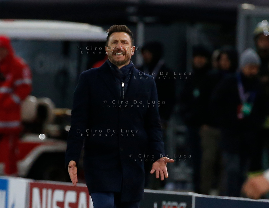 Eusebio Di Francesco coach of AS Roma  during the Champions League Group  soccer match between AS Roma - Real Madrid  at the Stadio Olimpico in Rome Italy 27 November 2018