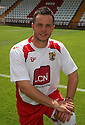 Chris Beardsley of Stevenage at the Stevenage FC team photo shoot at The Lamex Stadium, Broadhall Way, Stevenage on Saturday, 24th July, 2010.© Kevin Coleman 2010