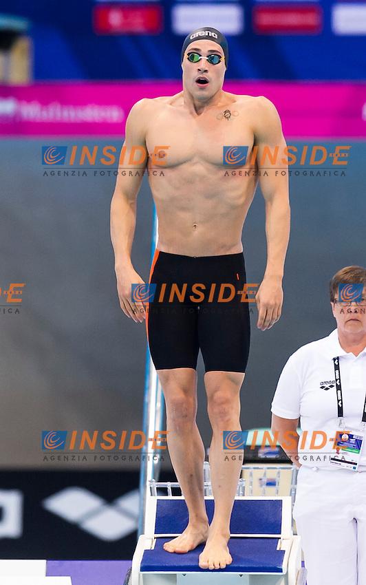 SCOZZOLI Fabio ITA<br /> London, Queen Elizabeth II Olympic Park Pool <br /> LEN 2016 European Aquatics Elite Championships <br /> Swimming<br /> Men's 100m breaststroke preliminary <br /> Day 08 16-05-2016<br /> Photo Giorgio Perottino/Deepbluemedia/Insidefoto