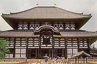 Nara: Great Buddha Hall, Todai-ji. First erected 745; present structure, 1708. Largest wooden structure in world, but only 2/3 original size. Photo '81.