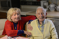 108-year-old WWII veteran, Bill Mohr who lives in the home that he built for his wife