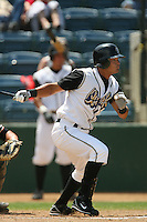 June 15 2007:  Carlos Colmenares of the Rancho Cucamonga Quakes during game against the Modesto Nuts at The Epicenter in Rancho Cucamonga,CA.  Photo by Larry Goren/Four Seam Images