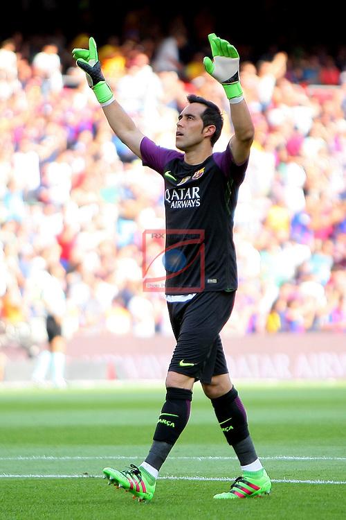 League Santander 2016/2017. Game: 1.<br /> FC Barcelona vs Real Betis: 6-2.<br /> Claudio Bravo.