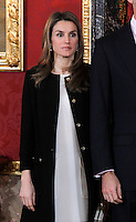Spain's Princess Letizia during audiences. February 13, 2013. (ALTERPHOTOS/Alvaro Hernandez) /NortePhoto