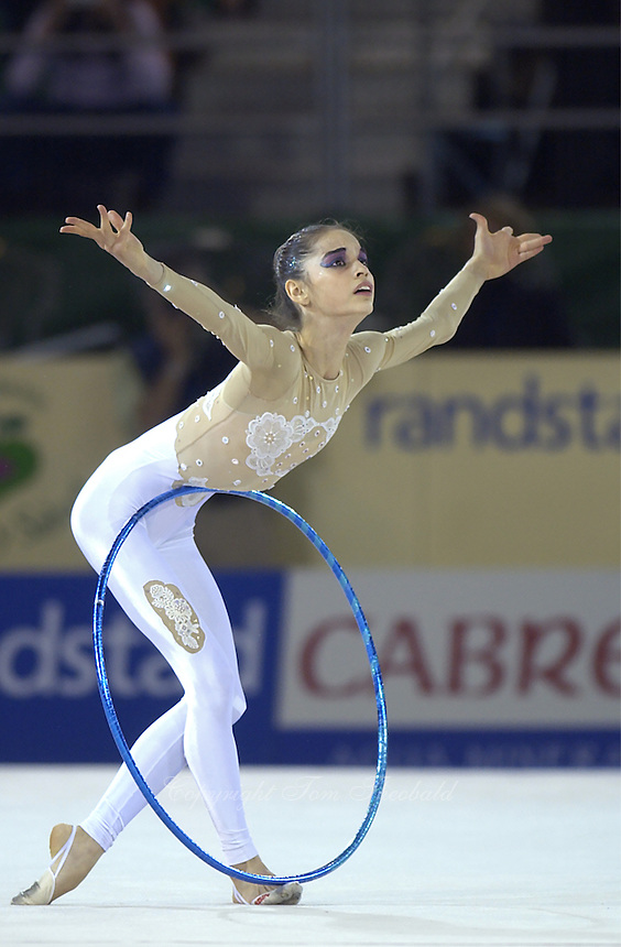 October 20, 2001; Madrid, Spain:  ANAHI SOSA of Argentina performs with hoop at 2001 World Championships at Madrid.