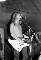 Metallica performs as &quot; The Four Horsemen &quot; at Ruthies Inn in Berkley, California. 8/24/85  <br /> CAP/MPI/GA<br /> &copy;GA//MPI/Capital Pictures