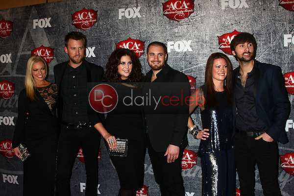 LOS ANGELES - DEC 10:  Lady Antebellum and spouses/dates arrives to the American Country Awards 2012 at Mandalay Bay Resort and Casino on December 10, 2012 in Las Vegas, NV