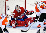 7 December 2009: Montreal Canadiens' goaltender Carey Price makes a second period save against the Philadelphia Flyers at the Bell Centre in Montreal, Quebec, Canada. The Canadiens defeated the Flyers 3-1. Mandatory Credit: Ed Wolfstein Photo