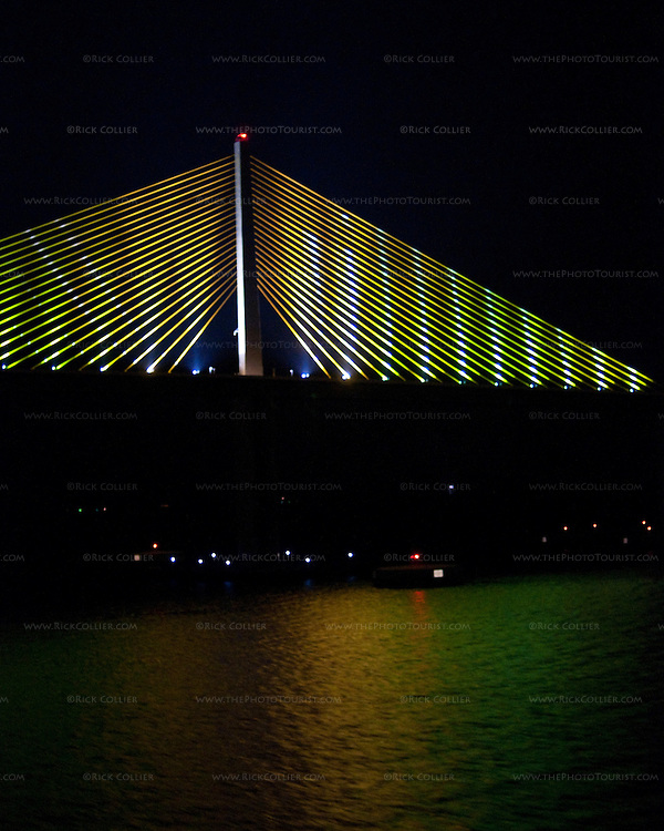 "The ""Sunshine Skyway"" bridge crosses Tampa Bay from St. Petersburg, Florida."